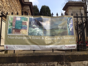 One of my prints was on the exhibition banner!