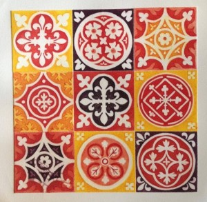 Nine Whissendine Tiles